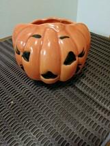 Vintage Haeger Ceramic Pottery Halloween Jack-O-Lantern Pumpkin Planter USA #311 image 4