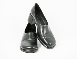 Franco Serta Flex Women's Career Dress Shoes Black Leather Classic Pumps 10 M - $33.65