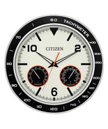 "NEW Citizen 18"" Silver Wall Clock With Hygrometer and Thermometer FREE S... - $75.99"