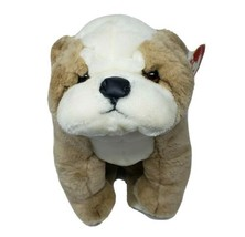 Vintage Ty 1990 Winston Marron Chiot Chien Bulldog Peluche Animal Jouet #2007 - $55.09