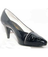 "Florsheim Brand ""Accent"" USA Size 5 1/2 Medium Black With White Accent *... - $4.99"