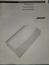 Bose Lifestyle DVD Home Entertainment Systems Installation Guide - $9.90