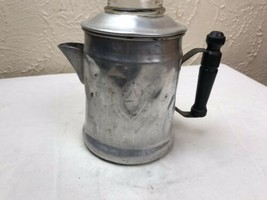 "Small Vintage Viko Aluminum Percolator Coffee Pot-Wooden Handle-6.5"" (no... - $9.46"