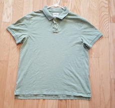 J. Crew Mens Polo Green Solid Large L 100% Cotton - $13.86