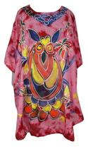 Gorgeous Poncho Kaftan Dress~Beautiful Bohemian Tie & Dye Handpainted Top - $15.90