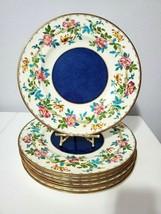 """Set of 7 Wedgwood Floral Design Dinner Plates  10.75"""" - $247.50"""