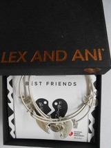 Alex and Ani Charity By Design Best Friends Set of 2 Bracelets Raf Silver NWTB&C - $42.56