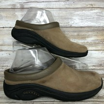 Merrell Jungle Primo Brown Nubuck Leather Clogs Air Cushion Insoles Wome... - $35.99