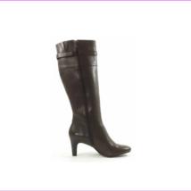 Lauren Ralph Lauren Women's Susie Leather Boots Dark Brown Size 6.5 B - $67.10