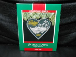 "Hallmark Keepsake ""Six Geese A-Laying"" 1989 Acrylic Ornament NEW 6th in ... - $5.45"