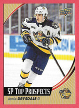 2019-20 Jamie Drysdale Upper Deck CHL Rookie SP Top Prospects - Erie Otters - $18.99
