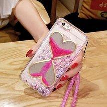 Liquid Case for iphone 8 Plus,Sandglass Liquid Floating Bling Glitter Dy... - $11.87