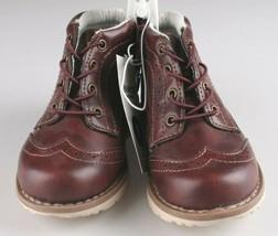 OshKosh B'Gosh Toddler Burgundy Brayan Wingtip Fashion Boots Shoes NEW image 2