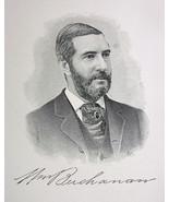 WILLIAM BUCHANAN Brooklyn N.Y. Tobacco Manufacturer - 1895 Portrait Print - $9.44