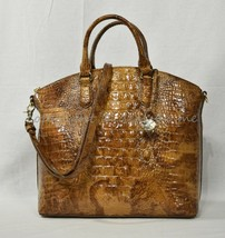 NWT Brahmin Large Leather Duxbury Satchel/Shoulder Bag in Tamarind Melbo... - $269.00