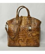 NWT Brahmin Large Leather Duxbury Satchel/Shoulder Bag in Tamarind Melbo... - $269.00