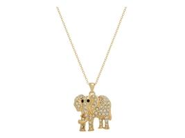 Rhinestone Elephant Pendant Necklace - $10.95