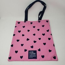 New Estee Lauder Pink Navy Hearts Tote Bag - $12.19