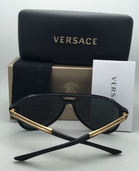04efd18d0642e New VERSACE Sunglasses VE 4312 GB1 71 60-15 Black   Gold Frame w