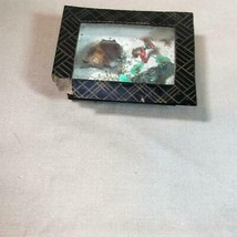 Victorian Antique Miniature Swimming Turtle Diorama Box with Glass Top - $52.20