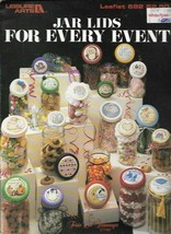 Jar Lids for Every Event in Cross Stitch Leisure Arts 682 1988 Great Gift Ideas - $2.96