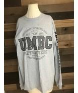 New JANSPORT Men's Long-Sleeve Shirt LG Grey UMBC Retrievers University ... - $27.76