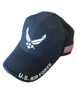 NEW USAF U.S. Air Force with U.S. Flag Baseball cap hat. Navy Blue - $16.99