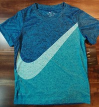 Nike Tee, Dri Fit, Youth L, Size 7, Blue T-shirt - $13.85