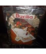 "NEW VINTAGE BUCILLA CROSS STITCH CHRISTMAS MUSIC TABLE RUNNER 14"" 44"" 82... - $73.87"