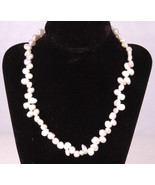 "Freshwater Pearl Necklace-White-16.5""-Screw Clasp - $32.71"