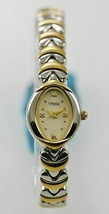 Caravelle Watch Womens Stainless Steel Silver Gold Water Resistant Beige... - $38.25