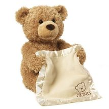 Gund Peek A Boo Bear-Teddy Bear Play Hide And Seek Lovely Cartoon Stuffed - $48.00