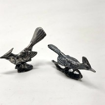 2 vintage pewter bird figurines - $18.50