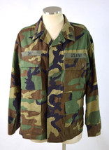 Woodland Camo Combat Pattern Coat US Army Cargo Pocke Jacket Day Medium ... - $19.79
