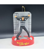 ELVIS PRESLEY LIGHT UP SINGING ORNAMENT figurine Jailhouse rock santas b... - $43.56