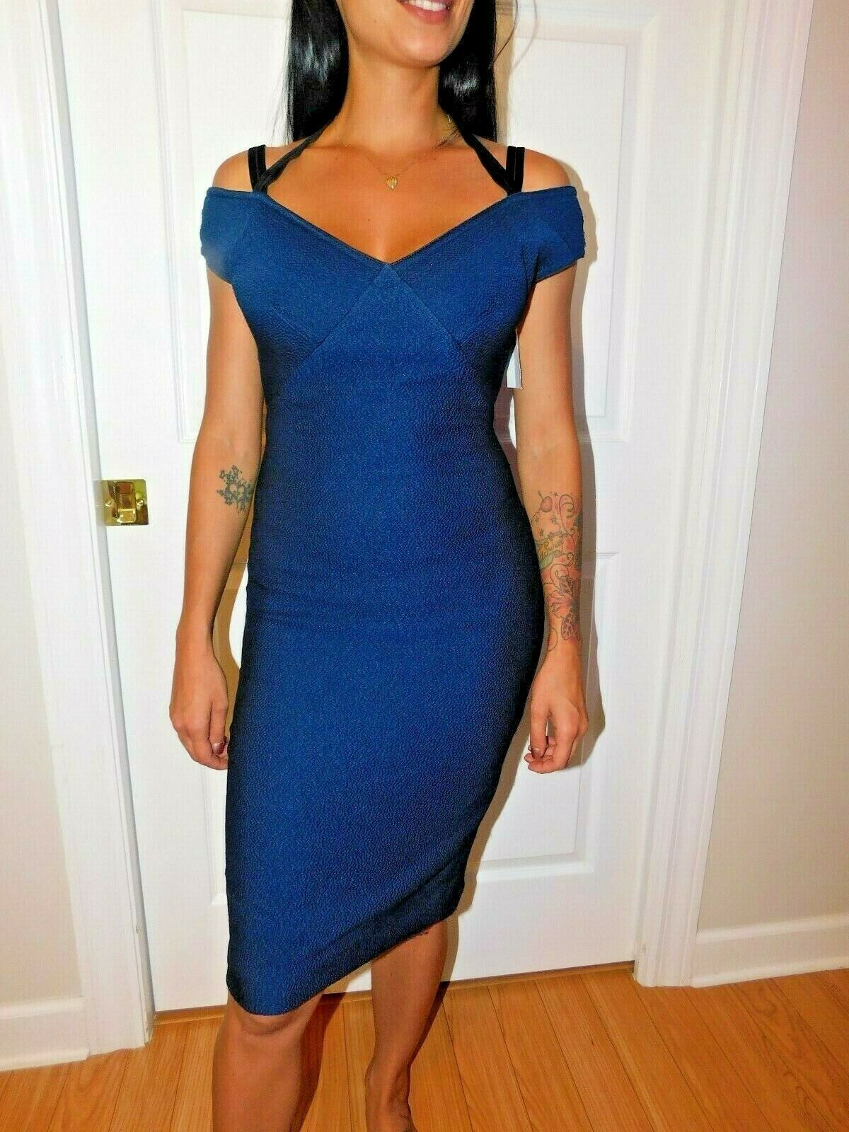 YIGAL AZROUEL OFF SHOULDER COCKTAIL  DRESS SIZE 14 NEW $990 image 4