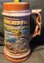 Vintage Antique Niagara Falls New York Stein Mug Pastel Made In Japan - $9.00