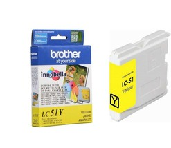 Brother Innobella LC51Y Ink Cartridge, 400 Page Yield, Yellow Exp 05/2014 - $7.91