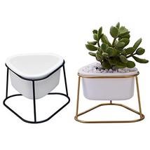 Planter Pots Indoor, Flowerplus 2 Pack 4.1 Inch Decorative White Ceramic... - $16.57