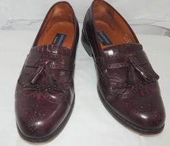 Bostonian Classic Leather Burgundy Kiltie Tassel Loafer Shoes  Mens 10M - $10.88