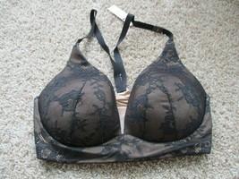 BNWT Victoria's Secret Lightly Lined Plunge women's pullover Bra, Black,... - $25.73