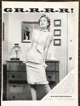1955 Sanforized Cotton PRINT AD Woman Furious Over Dress That Has Shrunk - $11.89