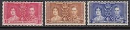 1937 Coronation Set of 3 Bechuanaland Postage Stamps Catalog Number 121-23 MNH