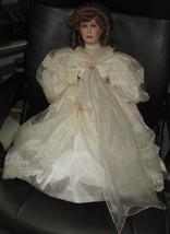 "27"" Porcelain Bride Wedding Doll Gwen Mac Neill Seymour Mann Red Hair Gr... - $78.21"
