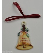 Longaberger Pottery 2003 Merry Christmas Basket Tie On Collectible Home ... - $11.99