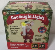 NEW Mr Christmas Goodnight Lights Mouse Candle Light Ornament  - $14.84