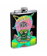 Abstract Alien Monster E1 Flask 8oz Stainless Steel Hip Drinking Whiskey - $12.82