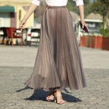 Black Polka Dot Tulle Skirt Black Pleated Tulle Midi Skirt image 12