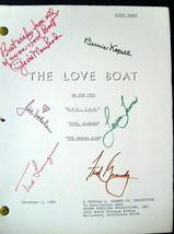GAVIN MACLEOD AND CAST SIGN (LOVE BOAT)ORIGINAL AUTOGRAPH SCRIPT (CLASSIC) - $296.01