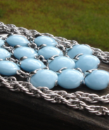 Vintage Crown Trifari© Waterfall Necklace Light Blue - $145.00